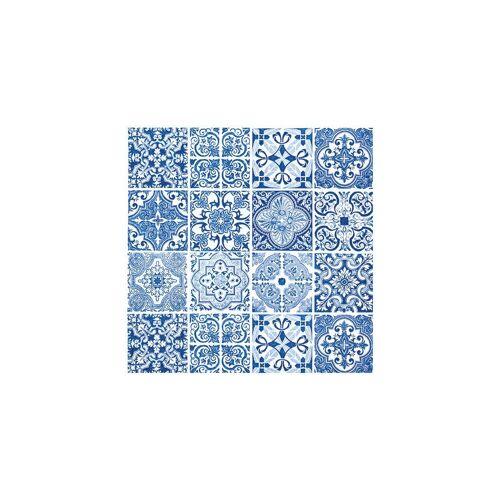 VBS Papierserviette »Blaue Fliesen«, (20 St), 33 cm x 33 cm