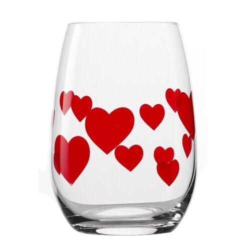 Stölzle Glas »L'Amour«, Kristallglas, 6-teilig, transparent-rot