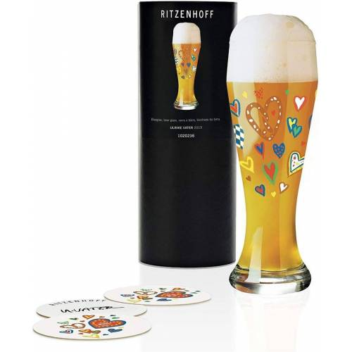 Ritzenhoff Longdrinkglas »Weizen Weizenbierglas Bierglas U. Vater«, Glas