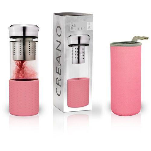 Creano Teekanne »Teamaker, Farbe unterwegs«, 0,4 l, ideal für unterwegs