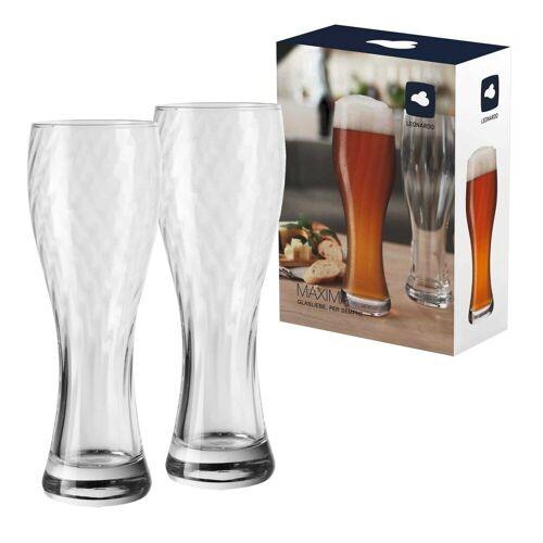 LEONARDO Bierglas »MAXIMA Weizenbierglas Weißbierglas 0,5l«, Glas