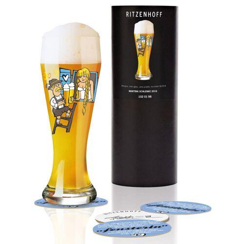 Ritzenhoff Bierglas »WeizenbierglasMartina Schlenke 500 ml«, Glas