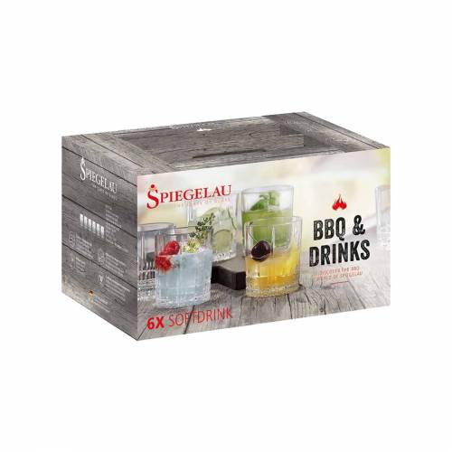 SPIEGELAU Gläser-Set »BBQ & Drinks Softdrink Glas 6er-Set«, Glas