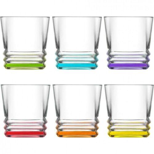 LAV Gläser-Set »Whiskygläser Trinkgläser saftgläser 6er Set«, Glas