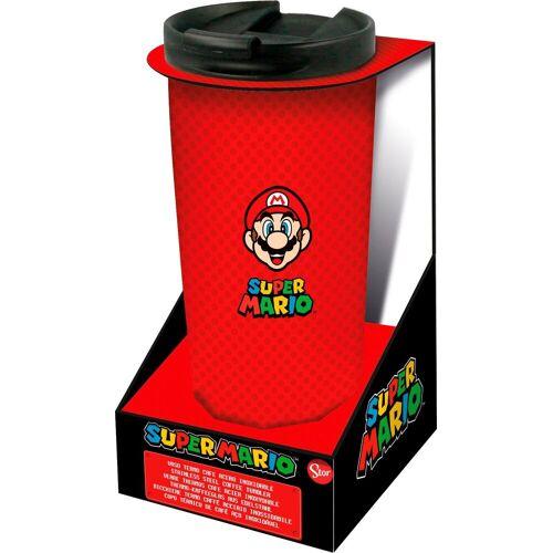 Coffee-to-go-Becher »Super Mario Thermo Reisebecher Edelstahl (425 ml)«, Edelstahl