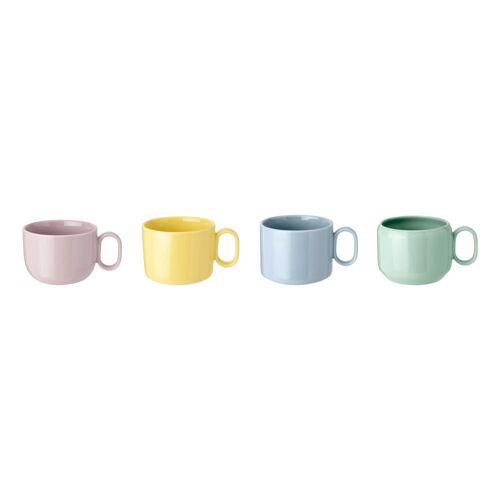 RIG-TIG Tasse »MIX-N-MATCH Tassen-Set, 4-tlg.«, Steingut