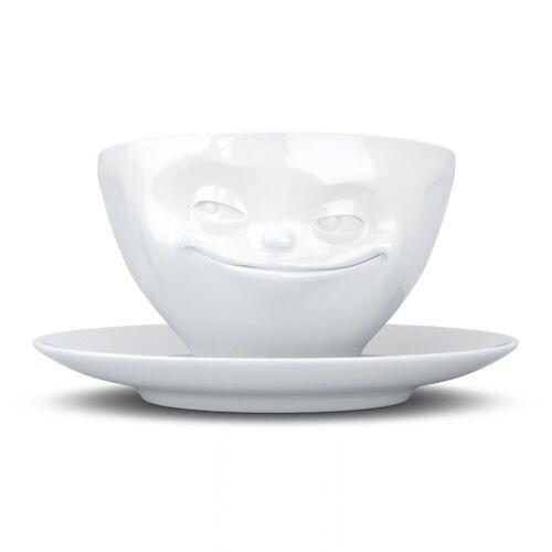 FIFTYEIGHT PRODUCTS Tasse »Tasse Grinsend weiß 200 ml«