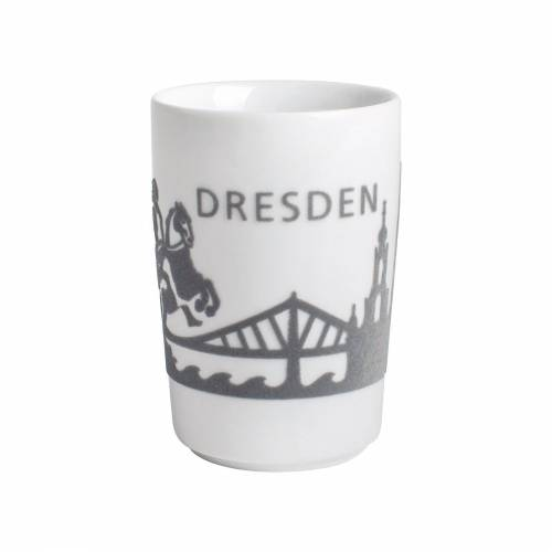 Kahla Becher »Maxi-Becher Skyline Dresden Five Senses Touch«, Porzellan mit Samt