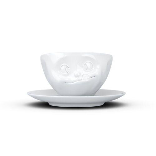 FIFTYEIGHT PRODUCTS Tasse »Kaffeetasse Lecker weiß 200 ml«