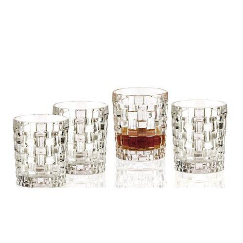 Nachtmann Whiskyglas »4er Set Bossa Nova Whiskybecher Whiskeygläser aus Kristallglas 330ml«, Kristallglas