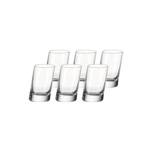 LEONARDO Schnapsglas »PISA Stamper Schnapsglas 40 ml 6er Set«, Glas