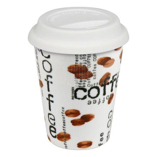 Könitz Coffee-to-go-Becher »Coffee Collage Becher mit Deckel«, Metall