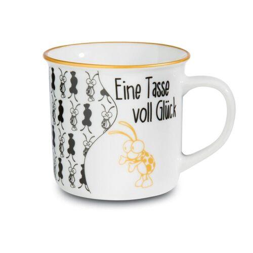 Nici Tasse »Eine Tasse voll Glück Metallic«, Porzellan