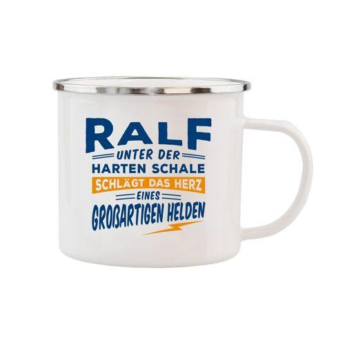 HTI-Living Becher »Echter Kerl Emaille Becher Ralf«, Emaille