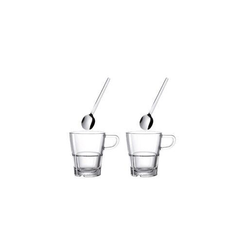 LEONARDO Glas »SENSO Tasse & Löffel 170ml 4er Set«, Glas
