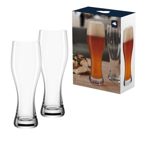 LEONARDO Bierglas »TAVERNA Weizenbierglas Weißbierglas 0,33l 2er Set«, Glas