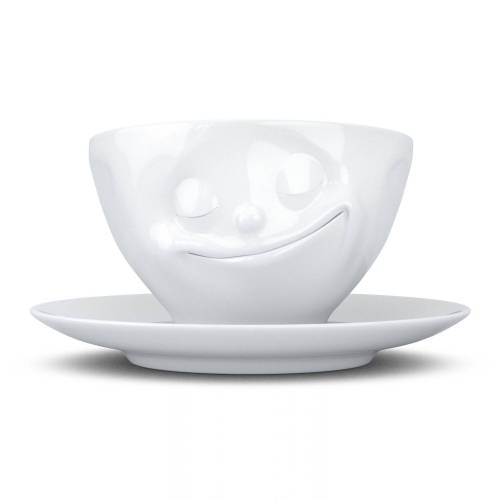 FIFTYEIGHT PRODUCTS Tasse »Tasse Glücklich weiß 200 ml«