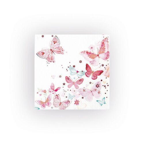 VBS Papierserviette »Schöne Schmetterlinge«, (20 St), 33 cm x 33 cm