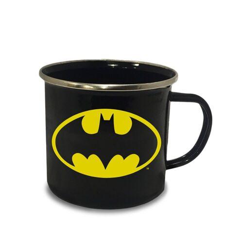 LOGOSHIRT Emaillebecher mit Batman-Logo, farbig
