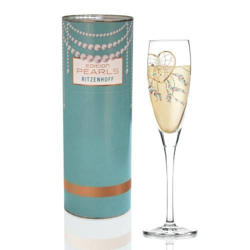 Ritzenhoff Sektglas »Pearls Edition Prosecco R. Rosenkranz Herz«, Kristallglas