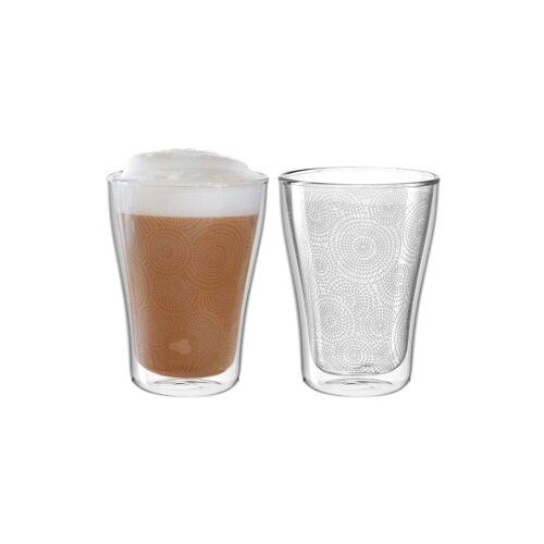 LEONARDO Thermoglas »DUO Thermoglas mit Dekor 250 ml 2er Set« (2-tlg)