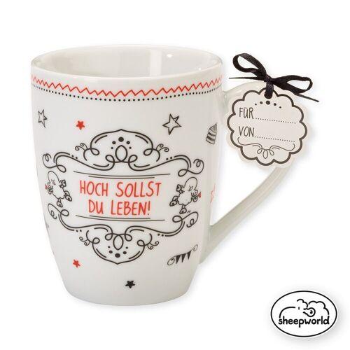 "Sheepworld Tasse »- Lieblingstasse ""Hoch sollst du leben"" 59266 Tasse Nr.10 Kaffeetasse«"