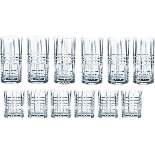 Nachtmann Gläser-Set »Highland« (12-tlg), Kristallglas mit markantem Schliff
