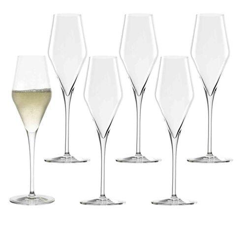 Stölzle Champagnerglas »QUATROPHIL Champagnerglas 290 ml 6er Set« (6-tlg)
