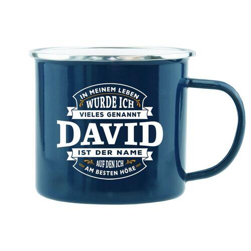 HTI-Living Becher »Echter Kerl Emaille Becher David«