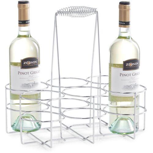 Zeller Present Flaschenkorb, Flaschenhalter für 6 Flaschen