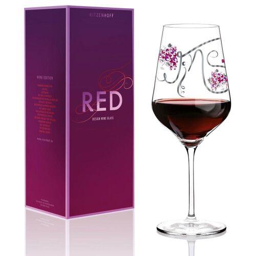 Ritzenhoff Rotweinglas »Red Design Ramona Rosenkranz«, Kristallglas