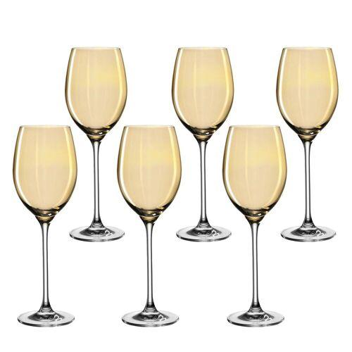 LEONARDO Weinglas »LUCENTE Universalweinglas amber gelb 6er Set« (6-tlg)