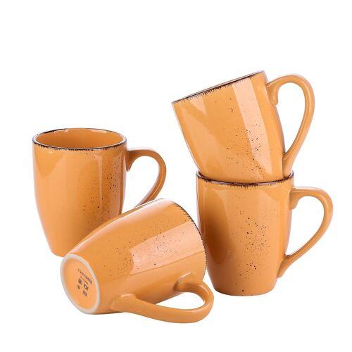 vancasso Tasse »NAVIA« (4-tlg), Steingut Kaffeetassen, Orange