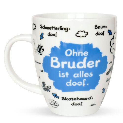 "Sheepworld Tasse »- Tasse ""Ohne ... ist alles doof"" 0,5l ODIAD Geschenk Kaffee- Tasse Motiv: Bruder«, Bruder"