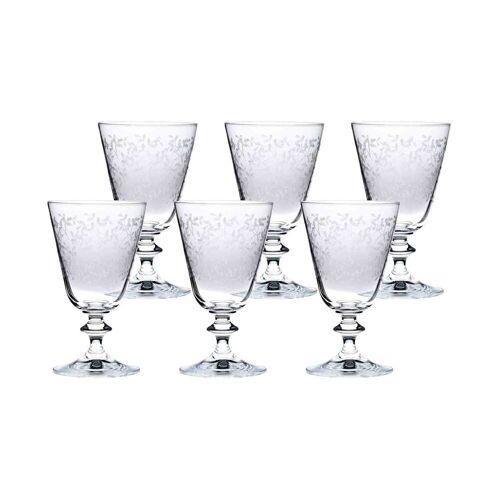 BOHEMIA SELECTION Rotweinglas »PROVENCE Rotweinglas 260 ml 6er Set« (6-tlg), Glas