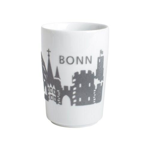 Kahla Becher »Maxi-Becher Skyline Bonn Five Senses Touch«, Porzellan mit Samt, Grau