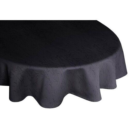 Wirth Tischdecke »Lahnstein«, oval, schwarz
