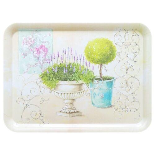 Lashuma Tablett »Garten«, Melamin, (1-tlg), Küchentablett 50 x 37 cm, Dekotablett XXL