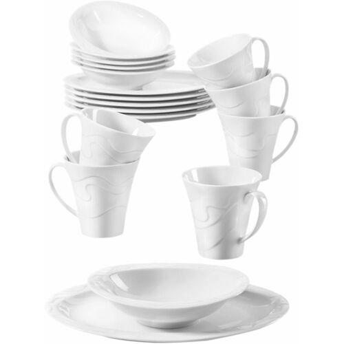Seltmann Weiden Frühstücks-Set »Allegro« (18-tlg), Porzellan, Mikrowellengeeignet