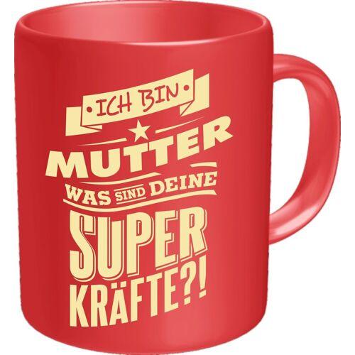 Rahmenlos Kaffeebecher mit witzigem Spruch »für die Mama«, mehrfarbig
