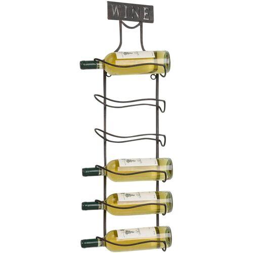 Home affaire Weinregal »Weinregal aus Metall für 6 Weinflaschen zum Aufhängen«