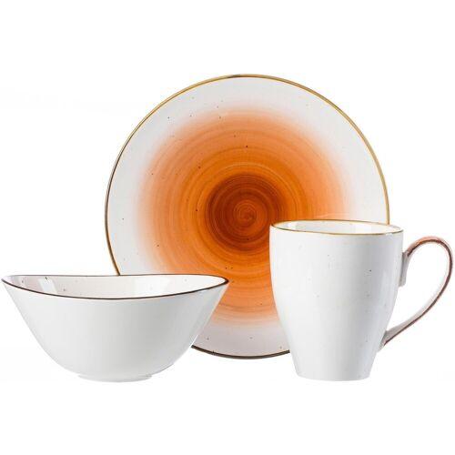 Ritzenhoff & Breker Frühstücks-Set »COSMO« (3-tlg), Porzellan, Mikrowellengeeignet