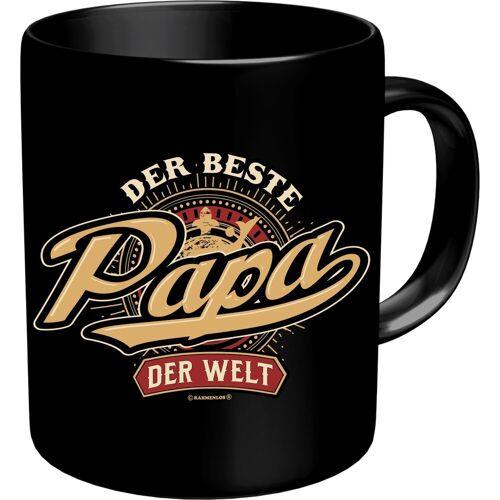 Rahmenlos Kaffeebecher mit lustigem Aufdruck »Der beste Papa der Welt«, mehrfarbig