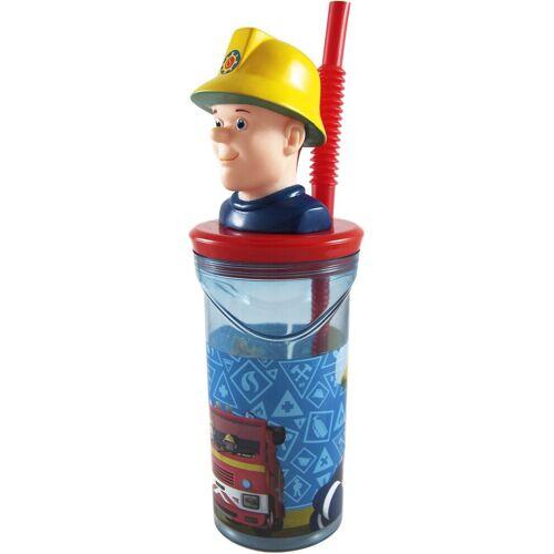 p:os Becher »3D Trinkbecher mit Strohhalm Star Wars, 350 ml«, blau