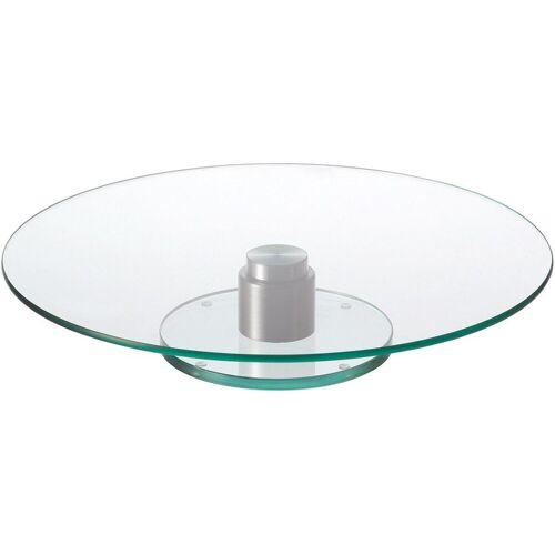 LEONARDO Tortenplatte »Turn«, Glas, Edelstahl, handmade, Ø 33 cm