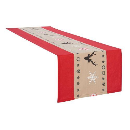my home Tischläufer »Xaver«, Weihnachtsdeko, rot