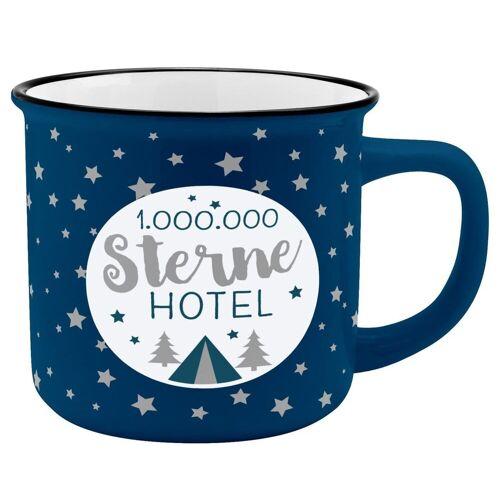 Sheepworld Tasse »Auswahl Gruss & Co - Lieblings- Kaffe- Becher Tasse in Emaille Optik Art: Sterne Hotel«, Sterne Hotel