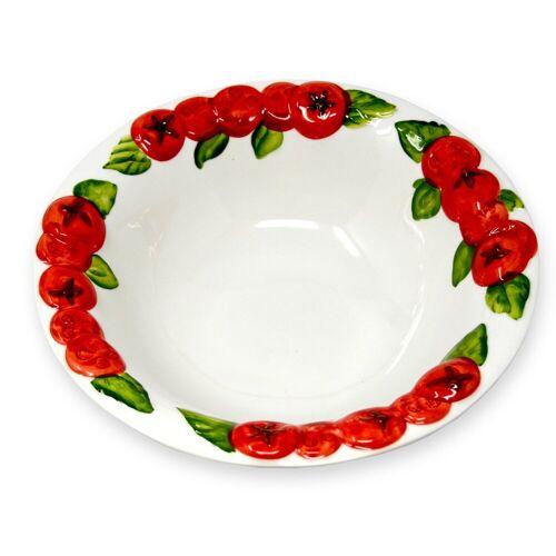 Lashuma Salatschüssel »Tomate«, Keramik, (Packung, 1-tlg), Runde Keramik Schale, Servierschüssel Ø 27 cm