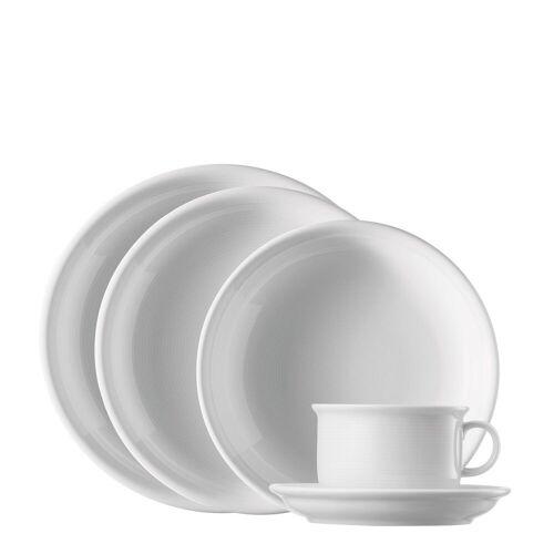 Thomas Porzellan Single Geschirr-Set »Trend Weiß Starter-Set 5-tlg.« (5-tlg), Porzellan