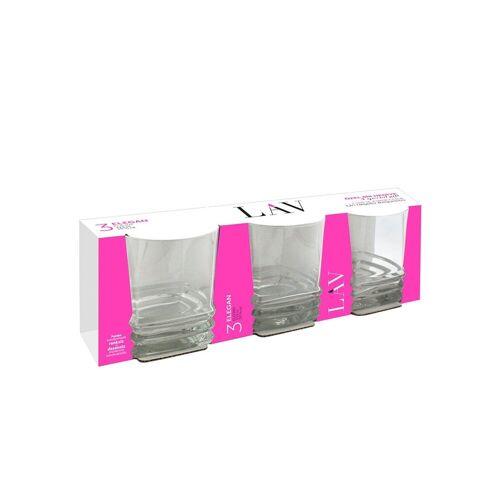 LAV Whiskyglas »Whiskyglas 3er Set Elegan« (3-tlg), Glas